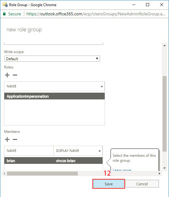 How to Grant Application Impersonation Rights in Office 365?