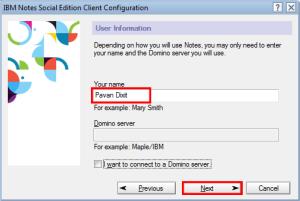 Domino server name
