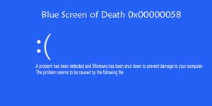 BSoD stop error 0x00000058 code