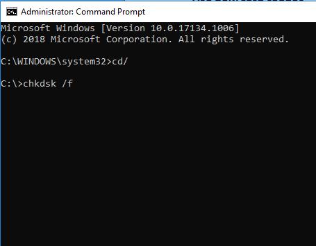chkdsk command