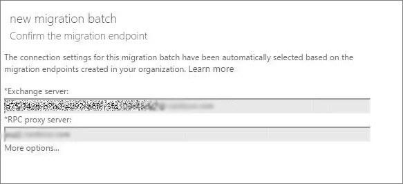 confirm migration endpoints