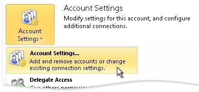 account setting