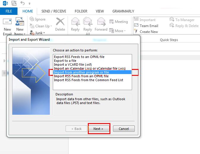 Select CSV file