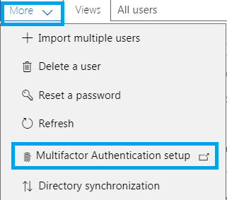 Enable or Disable Multi-Factor Authentication in Office365