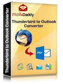 MailsDaddy Thunderbird to Outlook Converter